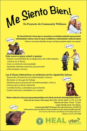 Community Well Flier Spanish