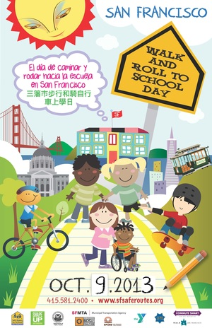 SF Walk and Roll to School Day Poster 2013 small