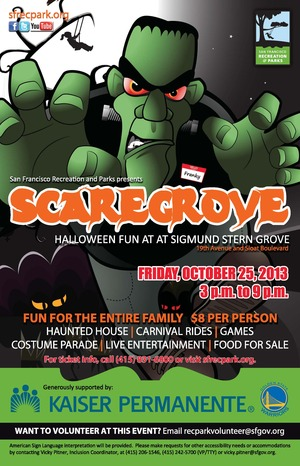 scaregrove 2013 poster FINAL 2